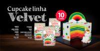 Linha Velvet Cupcakes e Cakes - 10 cores
