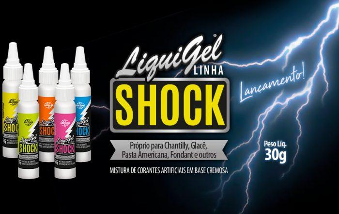 Liquigel Shock Line 30g - Adecuado para crema batida, glaseado, pasta, fondant y otros