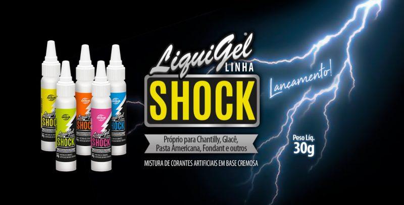 Liquigel Linha Shock 30g - Próprio para Chantilly, Glacê, Pasta Americana, Fondant e outros