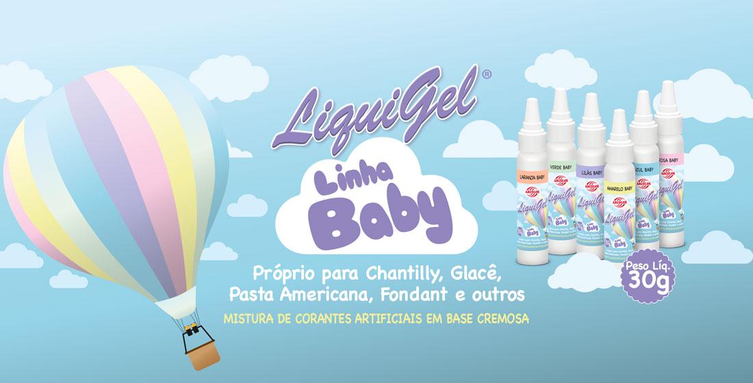Liquigel Linha Baby - Próprio para Chantilly, Glacê, Pasta Americana, Fondant e outros