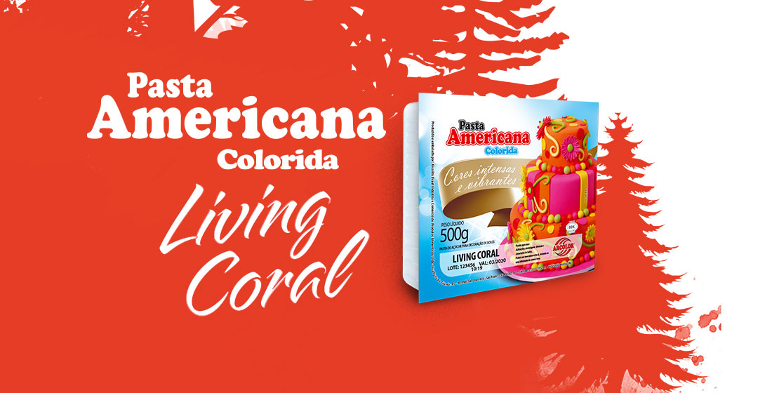 Pasta Americana Colorida Living Coral