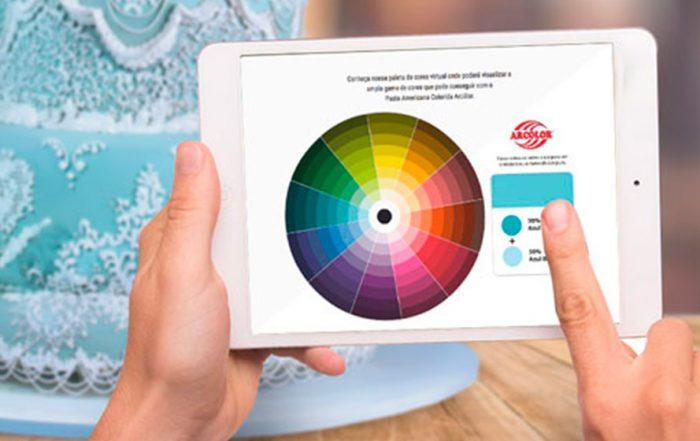 Paleta de colores interactiva Arcólor para Pasta de Azúcar Colorida Arcólor