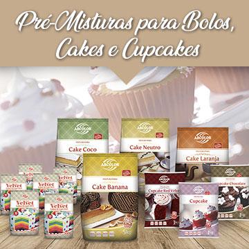 Pré-Misturas para Bolos, Cakes e Cupcakes